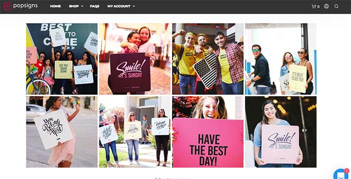 Our Customers: posigns instagram grid view
