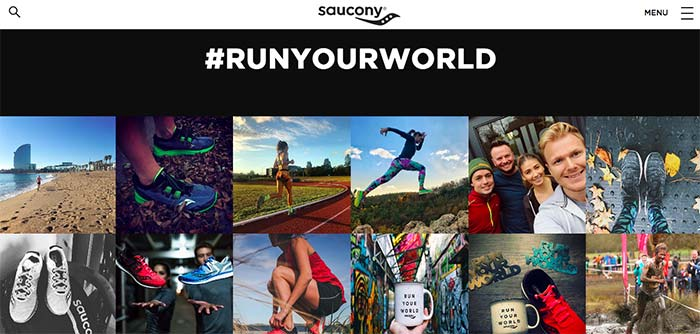 Enjoy Instagram feed for Saucony in Run Your World