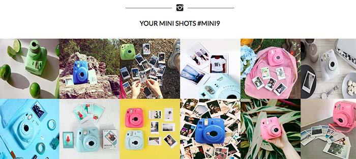 Enjoy instagram feed for hashtag instax mini9