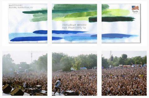 horizontal photo grid