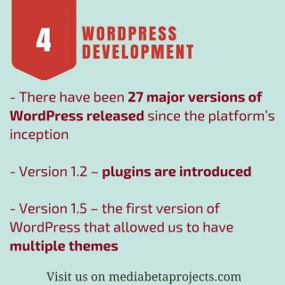 About Wordpress Development: 27 major versions of Wordpress released until today! Visit our website to know the #infographic http://ow.ly/fXJb308bYb9 #people #love #wordpress #plugin #wordpresslover #wordpressblog #wordpressblogger #webdevelopment #developer #salary #coupon #wpmb FOR YOU