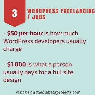 Wordpress Freelancing and jobs. $50 per hour is how much wordpress developers usually charge. So do you? Visit our website to know the #infographic http://ow.ly/fXJb308bYb9 #people #love #wordpress #plugin #wordpresslover #wordpressblog #wordpressblogger #webdevelopment #developer #salary #coupon #wpmb FOR YOU
