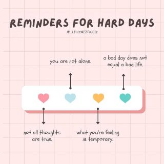 a reminder for hard days, or hard weeks, or hard months, or hard years. share with someone who you think may need this 💕